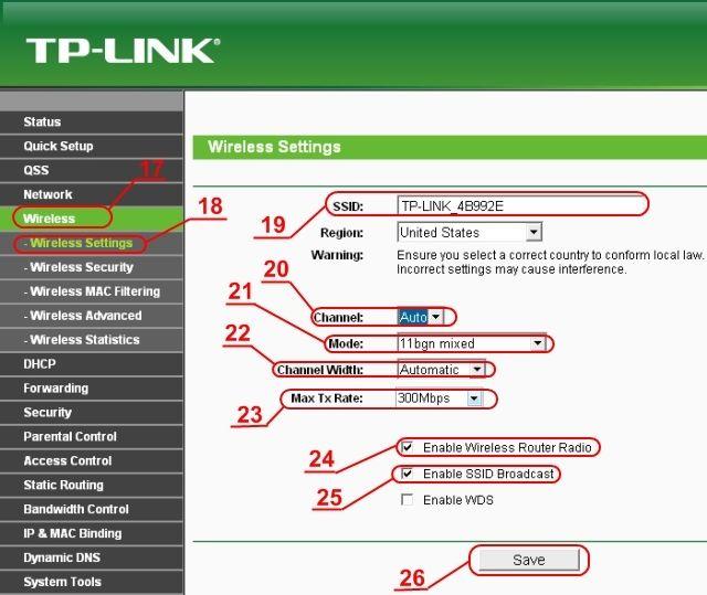 Настройка Wi-Fi на роутере TP-Link WR941