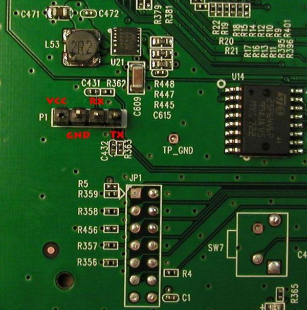 4 контактный разъем serial tplink WR1043ND