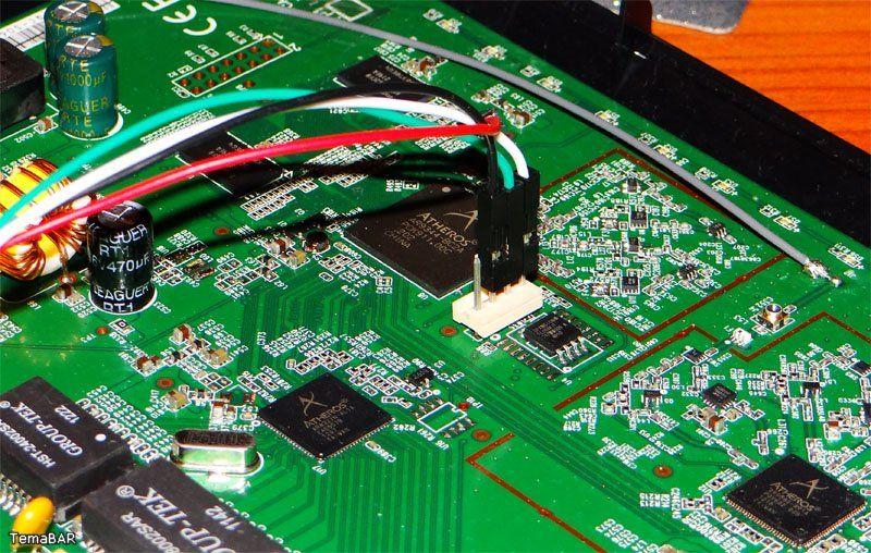 Подключение роутера к serial разъему WDR4300ND