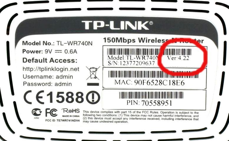 версия прошивки роутера tp-link 740