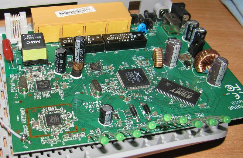 TP-Link TD-W8951 конденсаторы